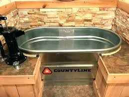 horse trough bathtub ideas bathroom magnificent used water together with metal ba