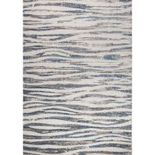 details about hawthorne collections 7 10 x 10 6 wavy stripes rug in cream and blue