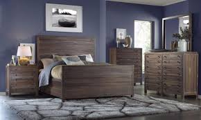 Mfi Bedroom Furniture Tartu Rustic Queen Low Profile Bed In Java By Mfix Furniture The