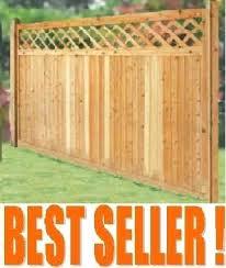 68 Wood Fence Panels 3 Rail Slip Rail 6 Ft X 8 Ft Spruce Dog Ear