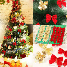 christmas red cloth bow tie xmas tree decor bauble hanging home party ornament pendant decorations 300p
