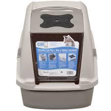 hagen catit hooded cat litter box. CATIT-HOODED-CAT-LITTER-PAN-GREY Hagen Catit Hooded Cat Litter Box O