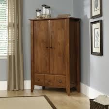Sauder Bedroom Furniture Sauder Shoal Creek Oiled Oak Armoire 410420
