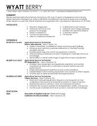 Best Service Technician Resume Example Livecareer