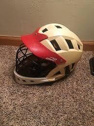 Brine Lacrosse Helmet W Red Brim 16 00 Picclick