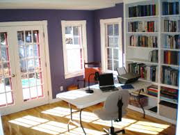 office area in living room. Home Office: Simple Office Design Work From Space Furnature Desks Area In Living Room