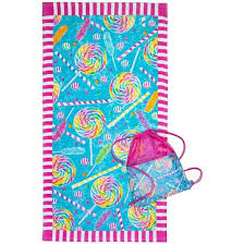 cool beach towels for girls. Three Cheers For Girls Beach Towel And Bag Set Thumb 12 - Candy Explosion Cool Towels