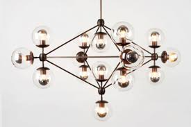 modo chandelier 4 sided 15x globes