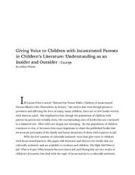 wt q persepolis essay exemplar by richard glover issuu giving voice to children incarcerated parents in children s literature