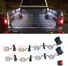 How To Install Truck Bed Lights With Switch Ledglow 8pc White Truck Bed Cargo Led Lighting Kit Universal Durable Waterproof Pod Lights Mount Under The Bed Rails Includes On Off Toggle
