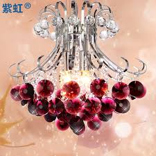 get ations romantic bedroom purple crystal chandelier modern and stylish restaurant lights crystal lamp simple wrought iron hanging