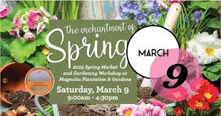 come celebrate the 2019 spring market and symposium at magnolia plantation and gardens with garden works