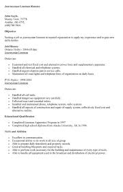 lineman resume