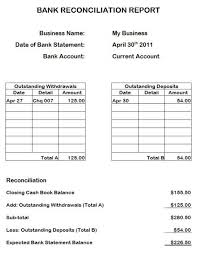 Bank Reconciliation Template Bank Reconciliation Statements Statement Template Account