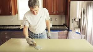 watch how he upgrades his ugly countertops with this easy and solution
