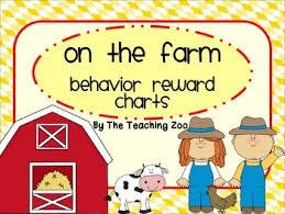 On The Farm Behavior Reward Charts Farm Animals Theme