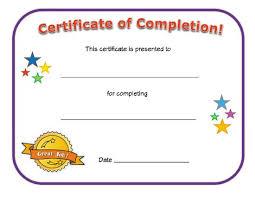 blank certificates blank certificate templates kids