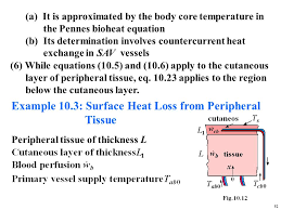 example 10 3 surface heat loss from peripheral tissue