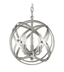 capital lighting 4233bn axis 3 light 13 inch brushed nickel pendant ceiling light photo