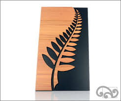 wall art fern wall hanger from rimu veneer on wall art panels nz with new zealand wall art silver fern wall art