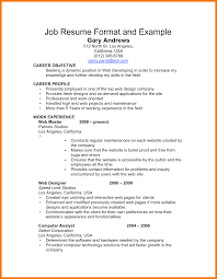 8 Simple Job Resume Template Mbta Online