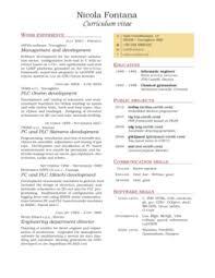 Two-column CV