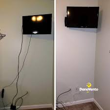 cables for a wall mounted tv