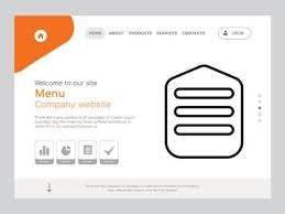 One Page Menu Template Free Quality One Page Menu Website Template Vector Eps Modern Web