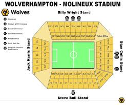 Molineux Stadium Seating Chart Fine Incredible Along With Gorgeous Molineux Seating Plan