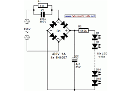 mains powered white led lamp eeweb community mains powered white led lamp circuit diagram