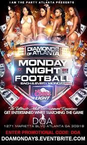 Monday Night Football Diamonds Of Atlanta In Atlanta Ga