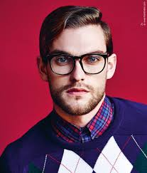 Mens Hairstyles With Glasses Short Mens Hairstyle And Strong Rimmed Glasses