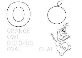 I created these mainly because my girls adore coloring. Learn The Alphabet Coloring Page Letter O With Frozen S Olaf Educational Printables Drakl