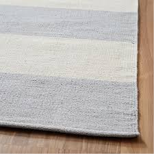 amazing striped cotton rug at blue and white 8 10 navy area