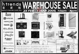 Warehouse Kitchen Appliances 25 Feb 1 Mar H Trends Warehouse Sale Shoppingnsales