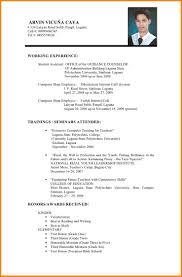 Magnificent Halimbawa Ng Resume Filipino Ideas Example Resume And