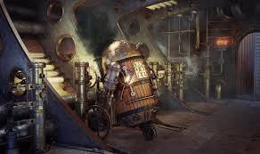 art, Star, Wars, Steampunk, Robot, R2d2 ...