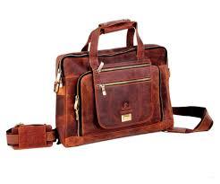 15 inch retro buffalo hunter leather laptop messenger bag