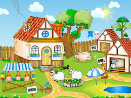 free nature screensaver farm
