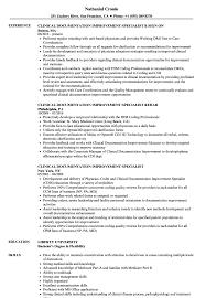 Clinical Documentation Improvement Specialist Resume