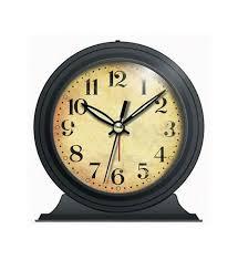 old fashioned alarm clock black image