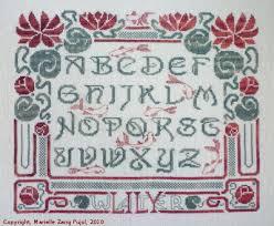 Art Deco Cross Stitch Charts Filigram