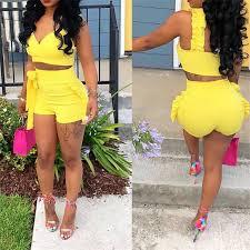 <b>Two</b> Piece <b>Set</b> 2019 <b>Summer women</b> crop tops High Waist Shorts ...