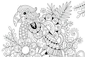 Free Printable Complex Coloring Pages Modern Floral Download These