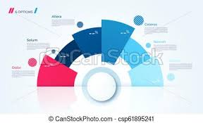 Modern Chart Design Vector Circle Chart Design Template For Creating Infographics