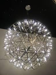 modern led ball firework chandelier stainless steel rainmond pendant lamp fixture