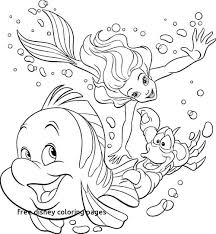 Disney Coloring Pages Little Mermaid At Getcoloringscom Free