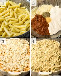 step by step how to make five cheese ziti al forno