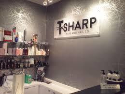 Upscale Hair Design Lobby Sign For Local Hair Salon Achieves An Upscale Look