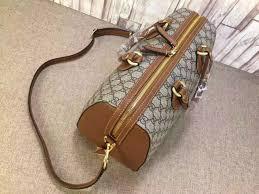 gucci 409527. gucci 409527 gg supreme top handle bag brown fall 2015 g